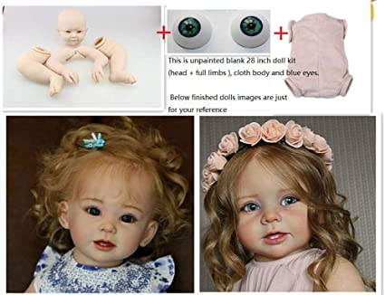 Cloth Body For 28inch Reborn Baby Toddler Newborn Doll Kit Supply Full Limbs DIY