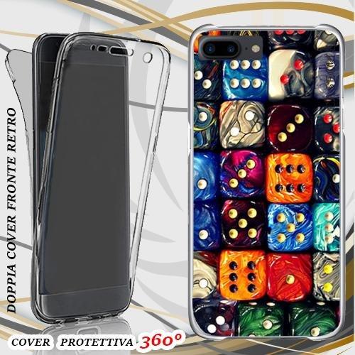 CUSTODIA COVER CASE DICE PER IPHONE 7 PLUS FRONT BACK