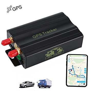 zhenyao GPS para Coche GPS Tracker gsm/GPRS Tracking Vehicle Real Time Tracker TK103A Sensor