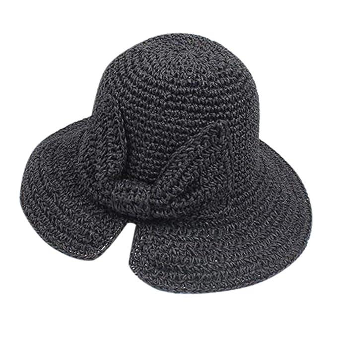 Amazon.com: IAMUP - Sombrero de playa hecho a mano con ...
