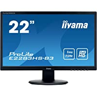"Iiyama E2283HS-B3 Ecran PC 21.5"" LED 1920 x 1080 1 ms HDMI/VGA Noir"