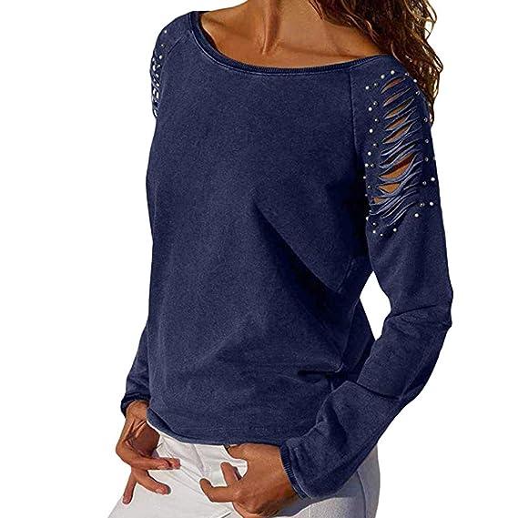 amisas Mujer, Blusas para Mujer Vaquera Sexy Gasa Tops Camisetas Mujer Cremallera Manga Corta Blusas: Amazon.es: Ropa y accesorios