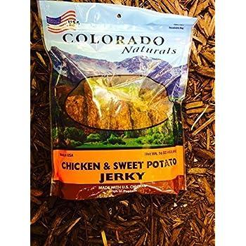 Amazon.com : Chicken & Sweet Potato Jerky Dog Treats. Made