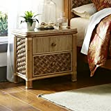 Mandalay Natural Wicker Rattan 2 Drawer Night Stand Bedroom Furniture Set from Spice Islands - FREE SHIPPING