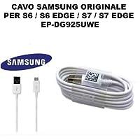 EASYPLACE Cavo Cavetto Originale Samsung Micro USB EP-DG925UWE Bianco 1,2MT Galaxy S6 Edge S7 G920 G925 G930 G935 SM Dati Carica Ricarica Bulk OEM