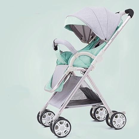 Cochecitos de bebé portátil plegable de 0-3 años Paraguas infantil con empuñadura de aluminio