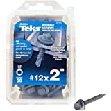 "ITW Brands 50Pk #12X2"" Roof Screw 21416 Self Drilling Screws Hex Head"