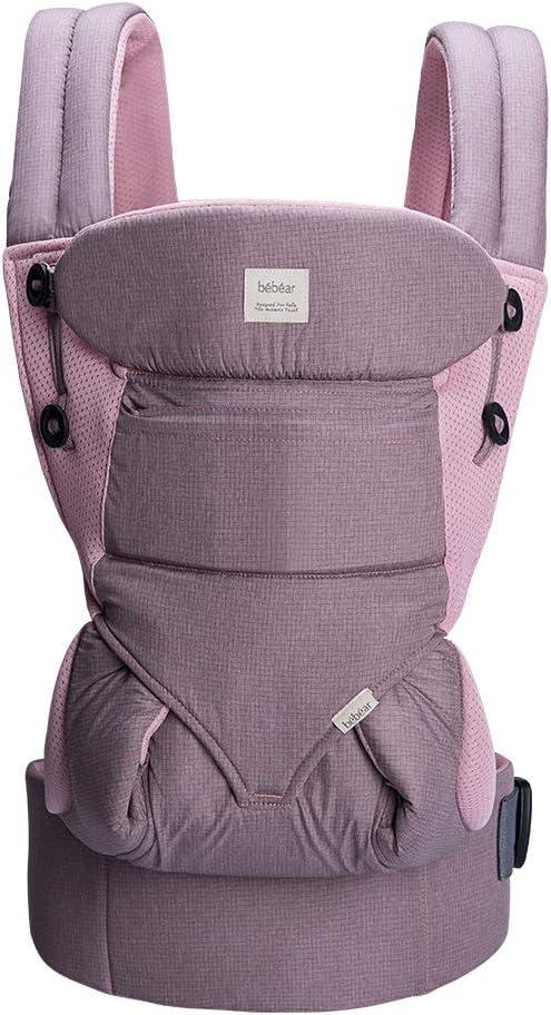 Dusty Pink portabeb/és de malla de aire 3D para beb/és y ni/ños peque/ños portabeb/és transpirable de verano Portabeb/és Bebamour de 3-36 meses