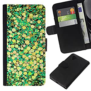 A-type (Yellow Leaves Nature Pattern) Colorida Impresión Funda Cuero Monedero Caja Bolsa Cubierta Caja Piel Card Slots Para LG Nexus 5 D820 D821