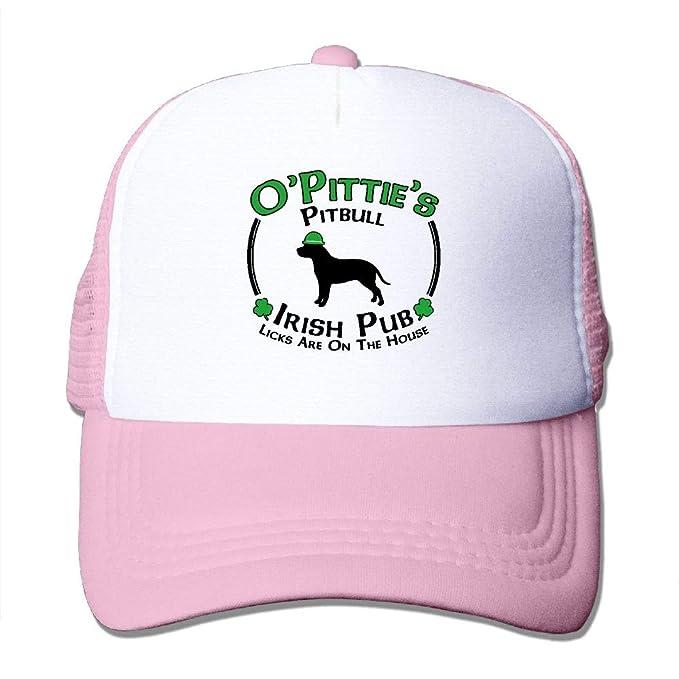 d140481e6ce St Patricks Day Dog Pitbull Pittie Irish Pub Men s Baseball Cap-Classic Dad  at Amazon Men s Clothing store