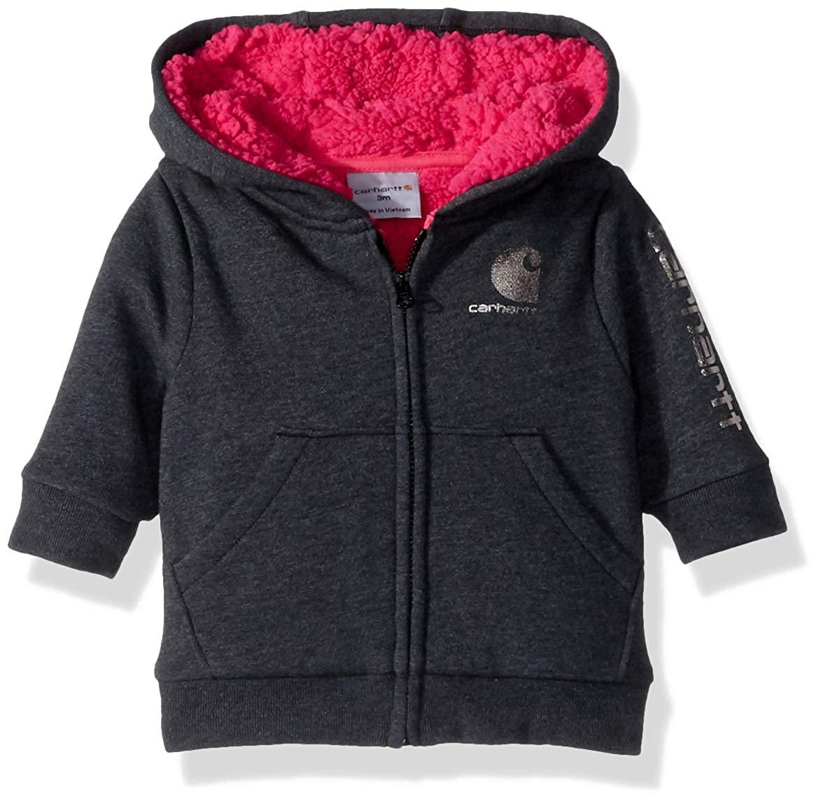Carhartt Baby Girls Heather Fleece Jacket