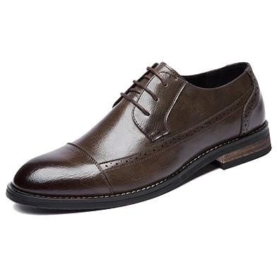 DHFUD Sculpté Chaussures pour Hommes Mode Printemps Et Été Paresseux Chaussures,Brown-38