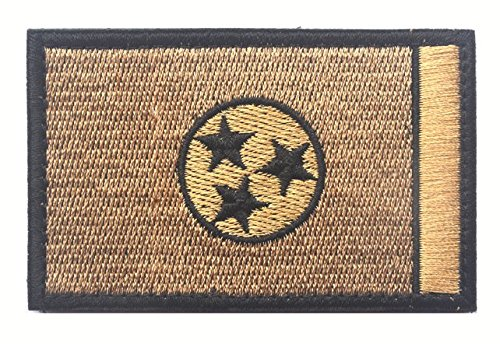 TENNESSEE STATE FLAG TACTICAL US ARMY USA MILITARY MORALE VELCRO PATCH (2)