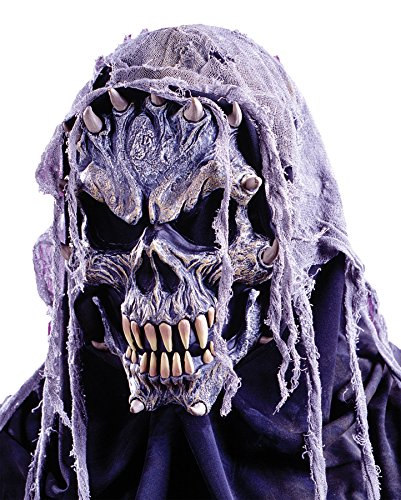 FunWorld Men's Horror Zombie Crypt Creature Latex Mask Halloween Costume Accessory ()