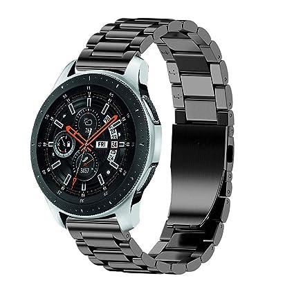 Samsung Galaxy Watch Correa, Zolimx Pulsera de Lujo de Acero ...