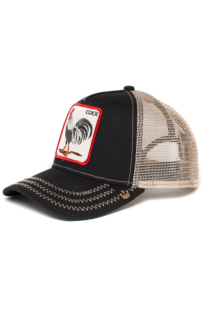 fca4f5d9 Goorin Bros. Men's Animal Farm Snap Back Trucker Hat Black Rooster One Size  Cap