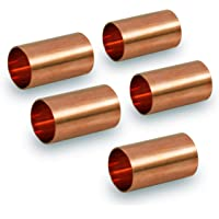 Everflow CCCL0100-5 Straight Copper Coupling Fittings With With Sweat Ends, 1 Inch,