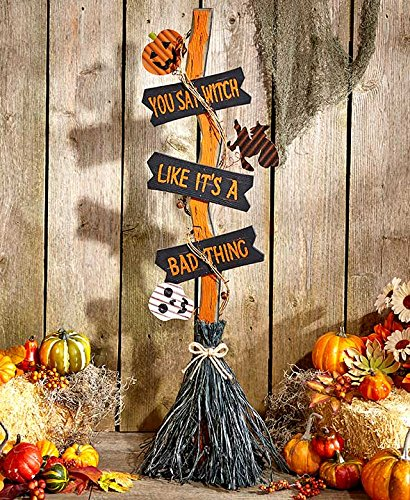 Halloween Witches' Broom- You Say Witch