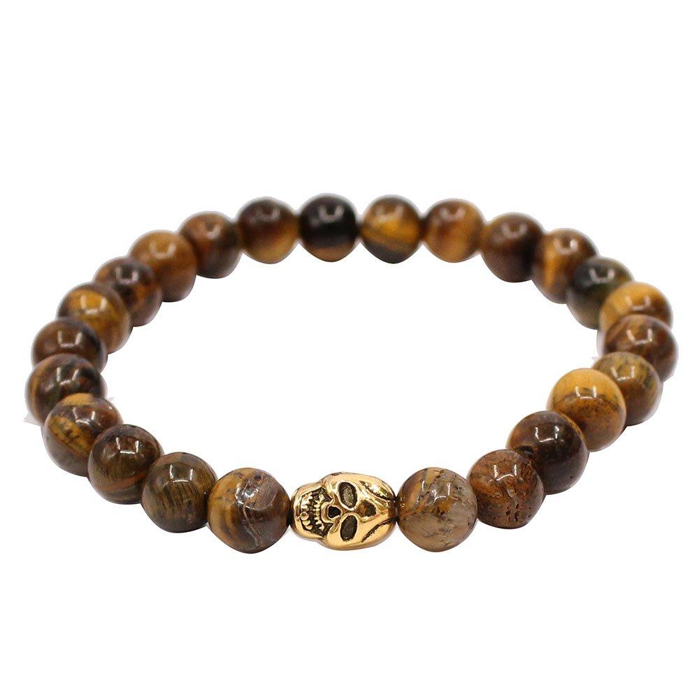 KSQS Skeleton Tigers Eye Bracelet For Men Meditation Mala Buddhist prayer Zen Buddhism Reiki Energy GABX1002#B