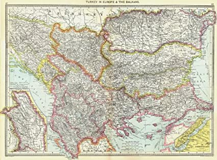 Amazon Com Balkans Turkey In Europe Map Of Moldova Dardanelles