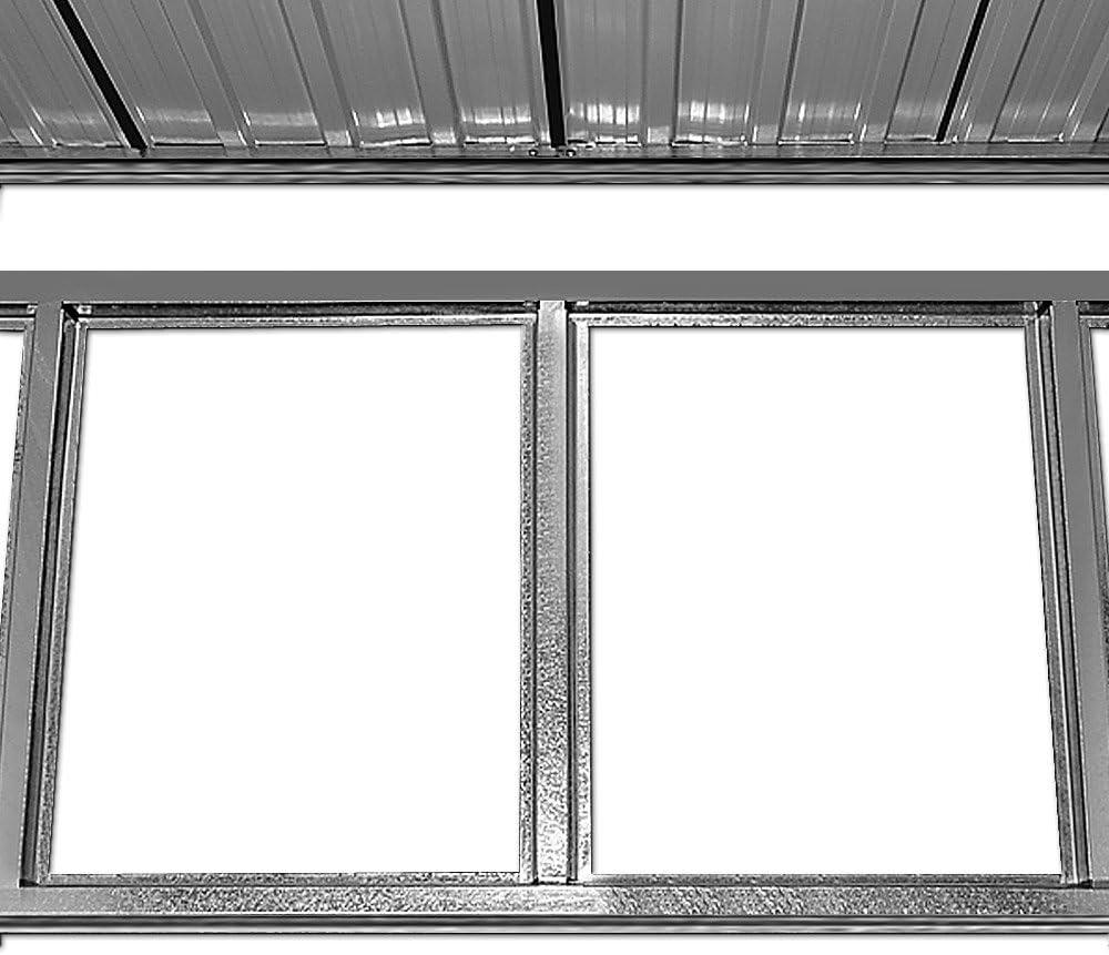 Deuba XL Metall Ger/ätehaus 2,4m/² mit Fundament 210x132x186cm Schiebet/ür Anthrazit Ger/äteschuppen Gartenhaus Schrank 4,2m/³