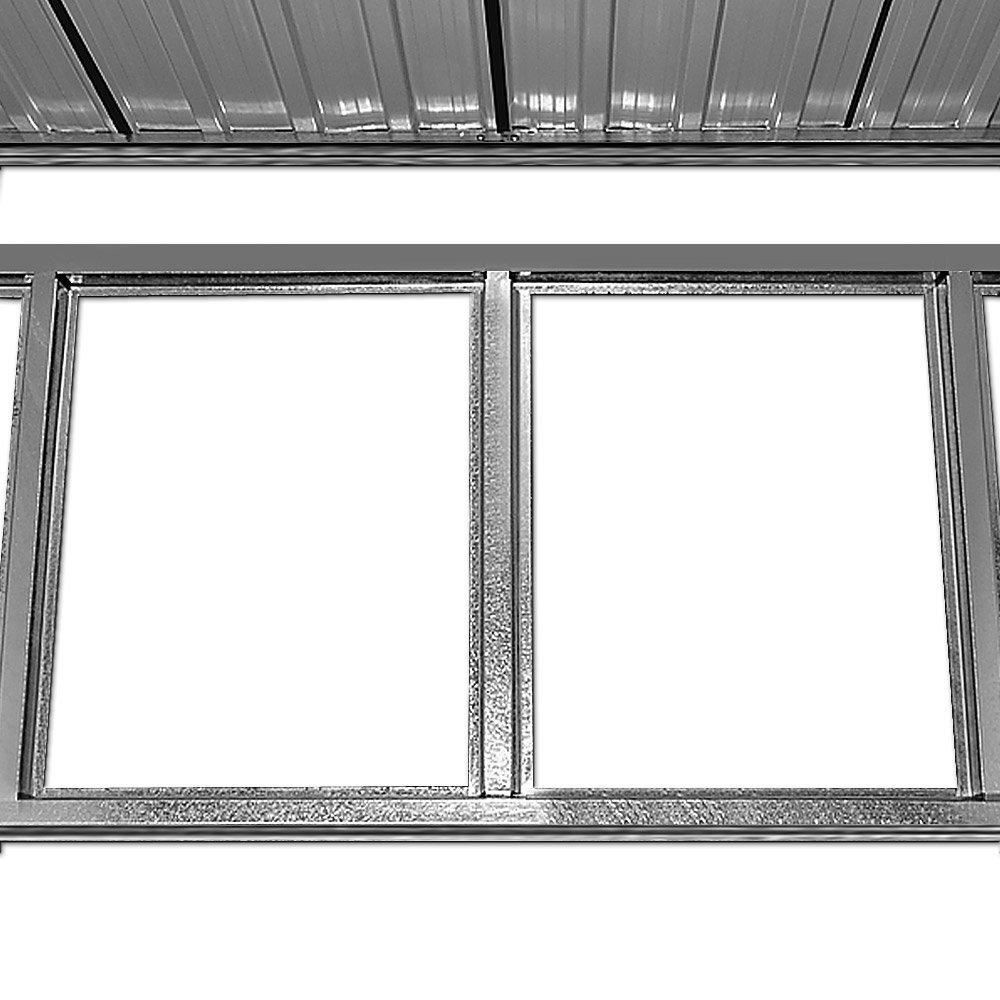 Brandneu XXL Metall Gerätehaus 210 x 132 x 186 cm ✓ inkl. Alu Bodenkranz  EP34