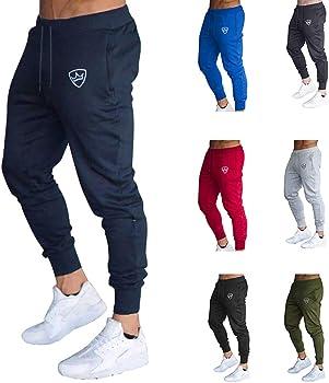 VANVENE Pantalones de chándal para Hombre Azul Azul Marino M ...