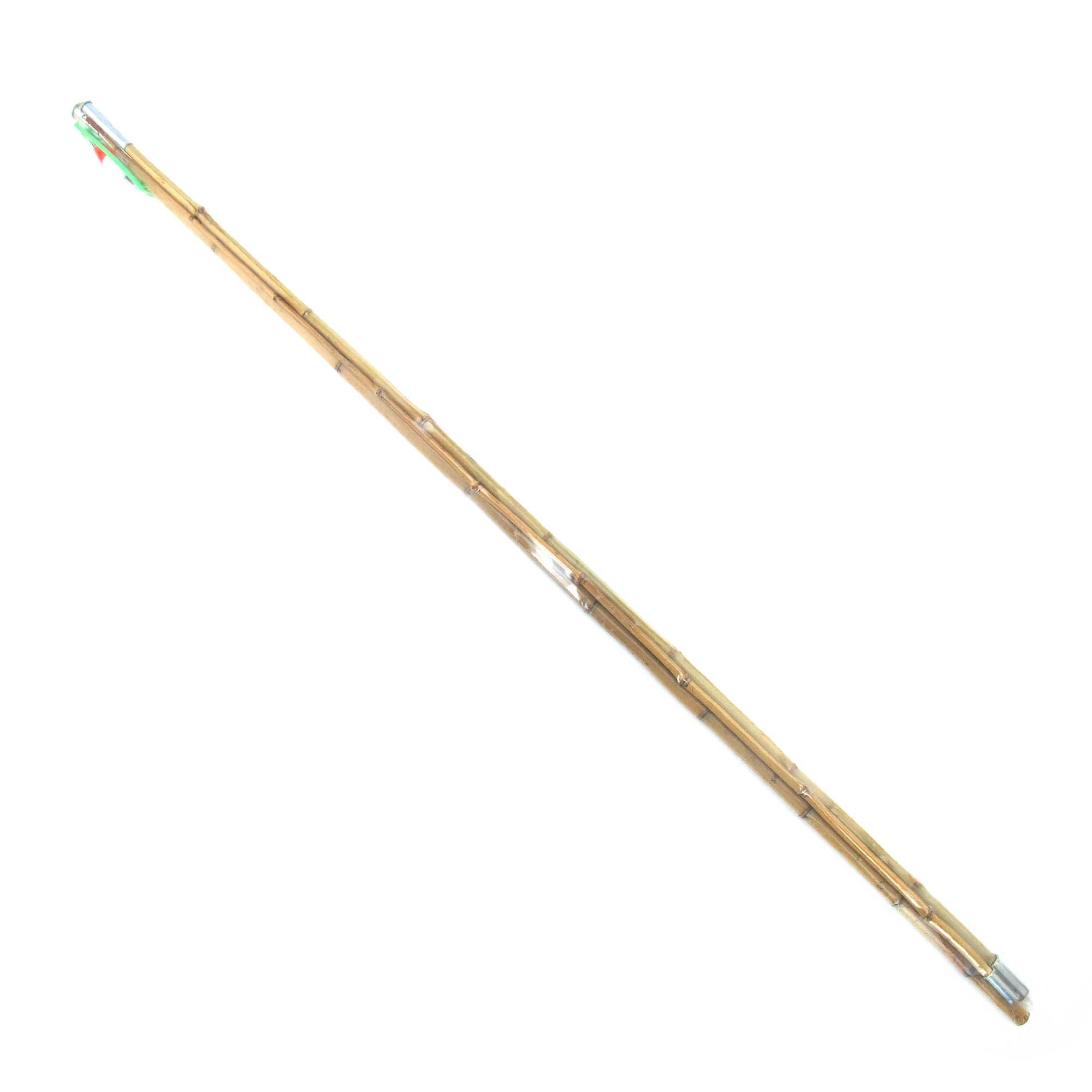 BambooMN 11.5 Ft 3 Piece Natural Bamboo Vintage Cane Fishing Pole with Bobber, Hook, Line and Sinker, 1 Set by BambooMN (Image #1)