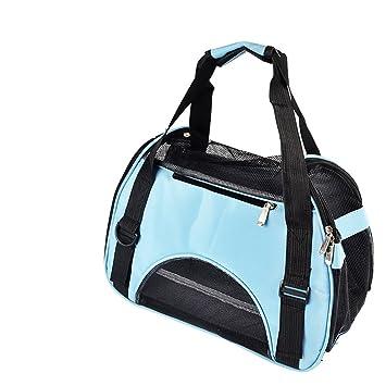 Paquetes de mascotas Perros Saliendo Maletas Mochila Kit de viaje Bolsa de gato Bolsa de perro Bolsa de perro Bolsa de mochila (Color : Azul) : Amazon.es: ...