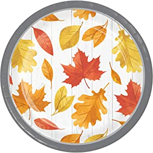 Paper Plates Disposable Plates Salad Plates, Farmhouse Decor Fall Decor, Thanksgiving Plates, Fall Leaves 7 Inch Pk 16