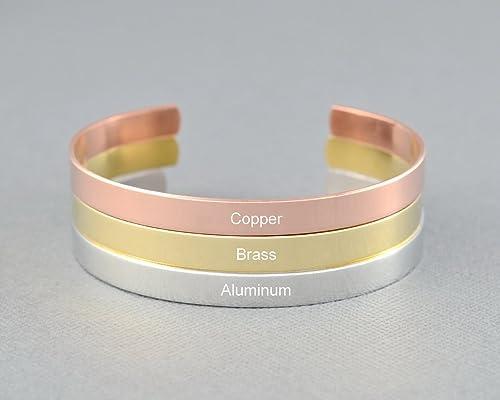 I REFUSE TO SiNK Personalized Inspirational Gift Hand Stamped Aluminum Cuff Bracelet Motivational Message Bracelet