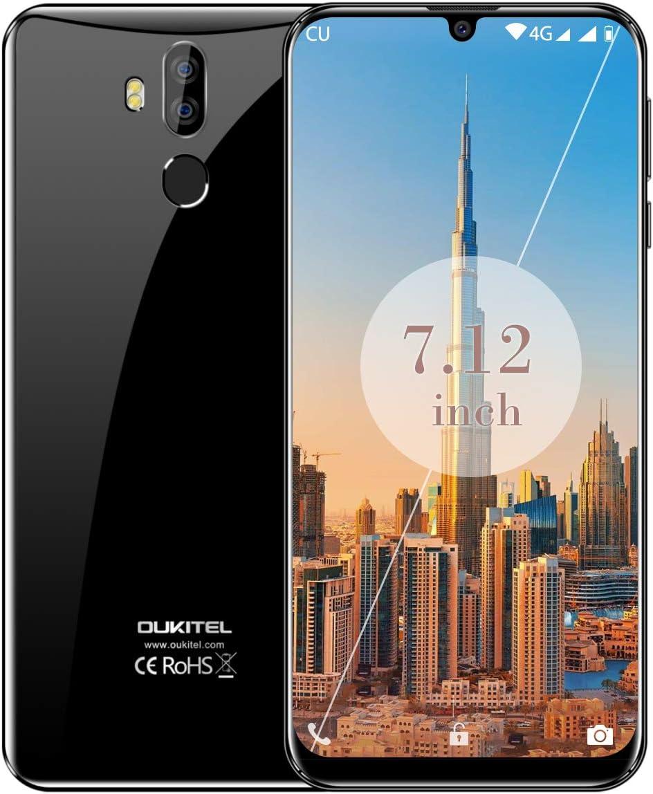 Móvil 7.12 Pulgadas,OUKITEL K9 Dual Sim Móviles y Smartphones Libres,FHD+ Pantalla De Gota De Agua Telefono Movil Android 9.0,4gb Ram 64gb ROM 6000 mAh moviles Libre,Nergo: Amazon.es: Electrónica