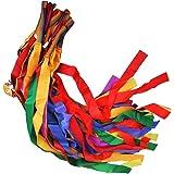 12pcs Rubans de Danse Multicolore Tenus dans la Main Jouets pour les Enfants