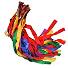 12Pcs Hand Held Dance Rainbow Ribbon Toys for Children--Random Color