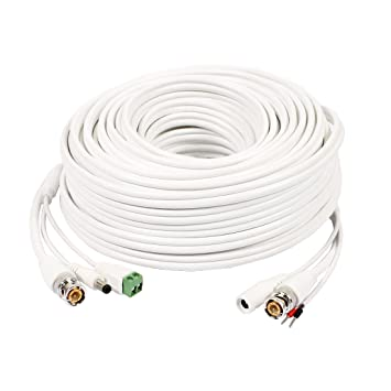sourcingmap® 30M BNC DC Video alimentación Cable de control RS485 Cable para CCTV Seguridad HD