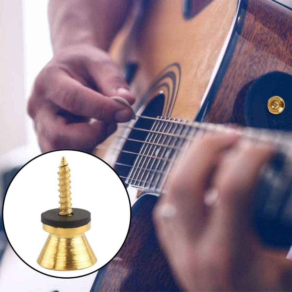 OSUTER 30PCS Verrou de Sangle de Guitare en M/étal Bouton Sangle Guitare Classique Guitare Sangle Lock pour Guitare Acoustique Electrique Basse noir//argent//dor/é