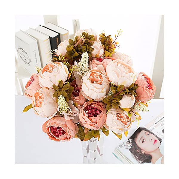 Best-Starloop-Fake-Flowers-Vintage-Artificial-Peony-Silk-Flowers-Wedding-Home-DecorationPack-of-2-Light-Pink