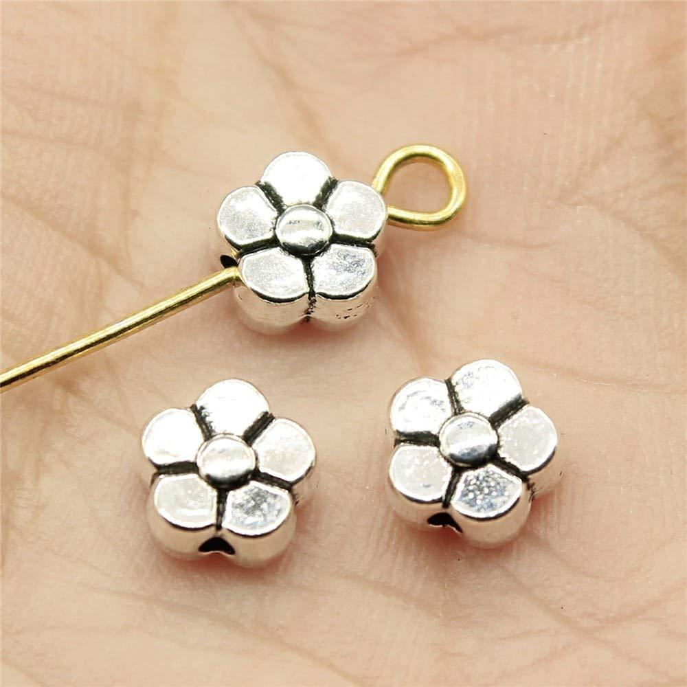 Wysiwyg 120/pezzi piccoli fori perline religioso gioielli braccialetto femminile materiali per artigianato fiore piccolo foro distanziatori perline 6/x 6/x 3/mm diametro 1/mm