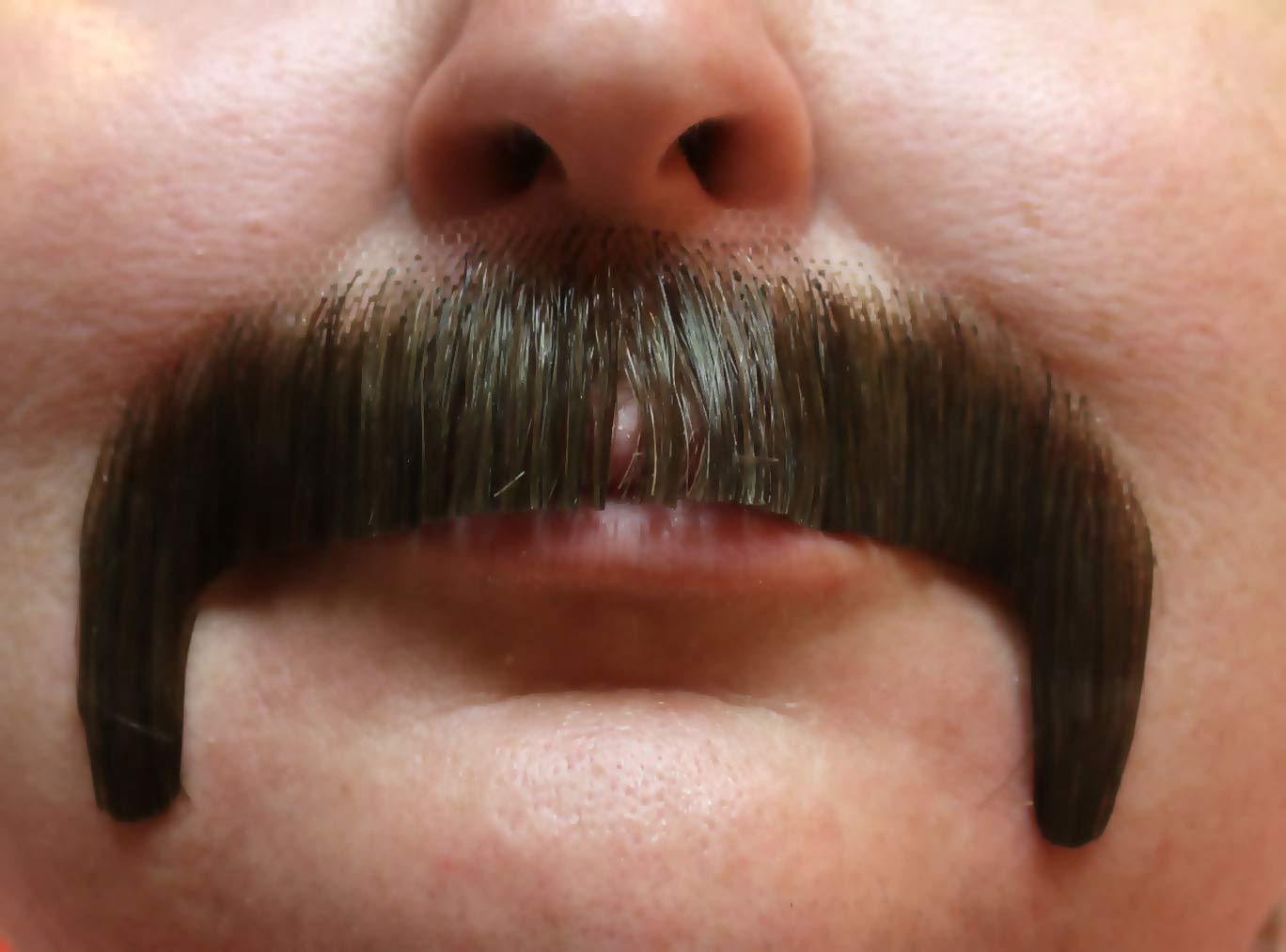 Dark Brown Sonny Bono Villain Human Hair Mustache