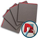 """Peel-and-Stick Baseplates - Self Adhesive Brick Building Plates - Compatible With Most Major Brands of Building Bricks - 4 pack (10"""" x 10"""") - By Creative QT (4-Grey)"""