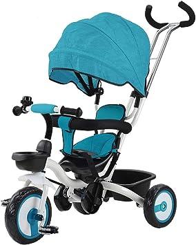Opinión sobre Productos para bebés LGMIN multifunción Plegable giratoria Triciclo Carro de bebé del Cochecito Productos de Seguridad (Color : Color2)