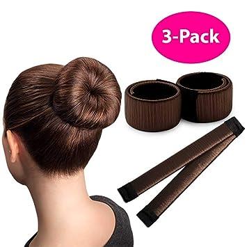 Amazon Brown Magic Bun Maker 3 Packperfect Hair Bun Making