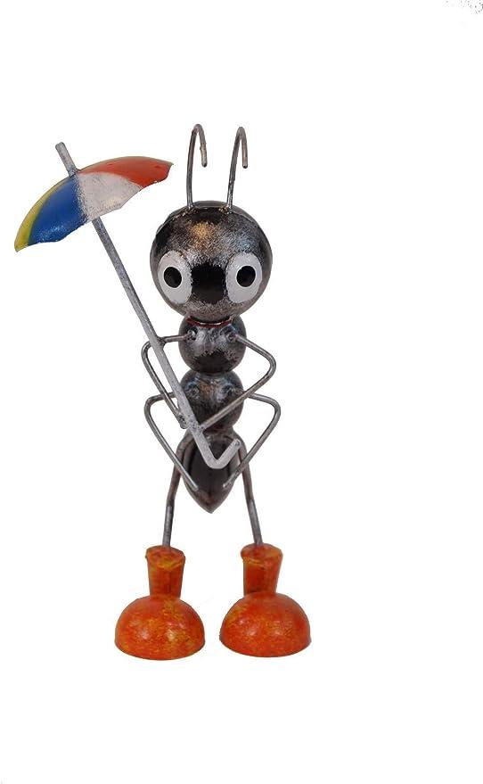 Amicaso Hormigas con Paraguas, decoración de jardín, decoración de Metal: Amazon.es: Jardín