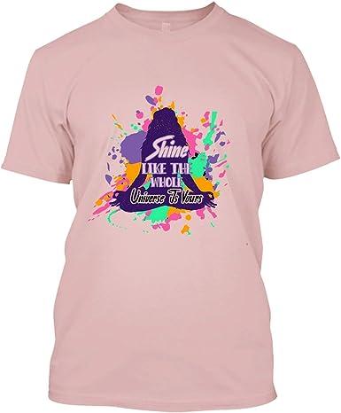 Amazon Com Bigtees Yoga T Shirt Yoga Shine Like The Whole Cool T Shirts Design Clothing