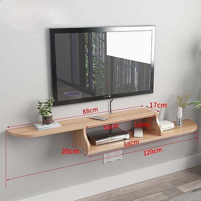 TV Rack Estante Flotante Estante de Pared Estante para Televisor Montado en la Pared Top para Televisor: Amazon.es: Deportes y aire libre