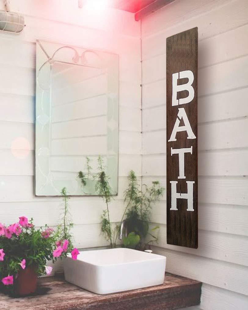 Amazon Com Bath Wood Sign For Bathroom Farmhouse Or Rustic Decor F16 Handmade