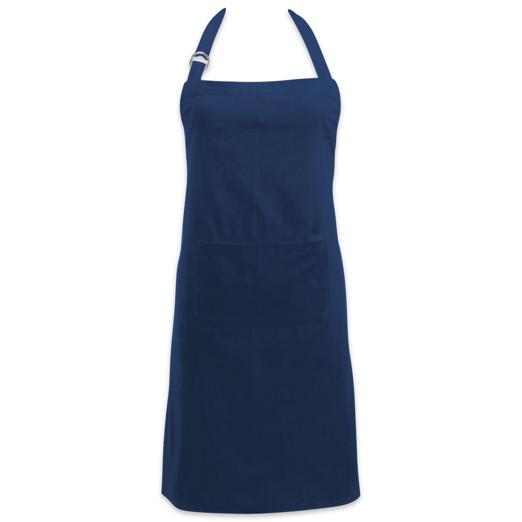 DII Cotton Adjustable Kitchen Chef Apron with Pocket and Extra Long Ties, 32 x 28'', Commercial Men & Women Bib Apron for Cooking, Baking, Crafting, Gardening, BBQ-Nautical Blue