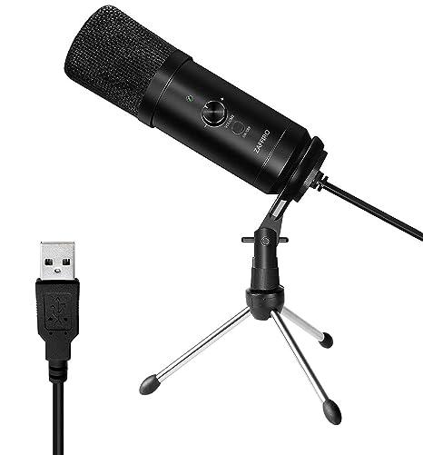 Micrófono USB, PC Micrófono de metal de condensador para Grabación ...