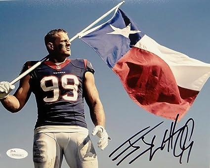 Image Unavailable. Image not available for. Color  JJ Watt Autographed  Houston Texans ... cc19dff19