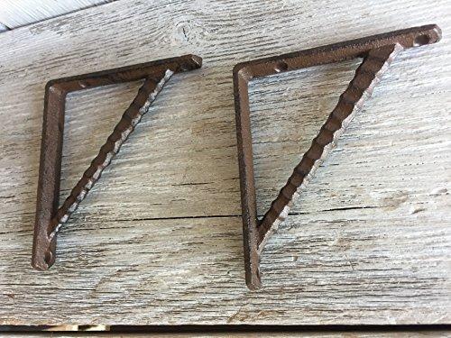 - BI03DT1117_2 - Antique Brown/Black Cast Iron Shelf Bracket (2pcs)
